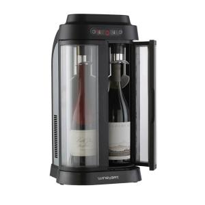 Wine Enthusiast EuroCave Wine Art 2-Bottle Wine Chiller and Preservation System by
