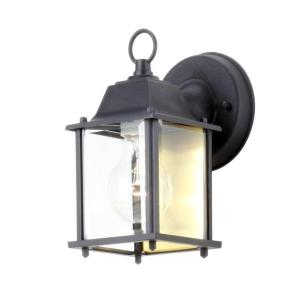 Hampton Bay Black 1-Light Outdoor Wall Lantern
