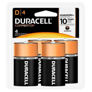 Duracell Coppertop Alkaline Size D Battery (4-Pack) by Duracell