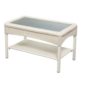 White Martha Stewart Charlottetown Wicker Coffee Table At Home Depot Furniture Outdoor