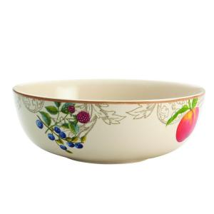 BonJour Dinnerware Orchard Harvest Stoneware 9 inch Serving Bowl by