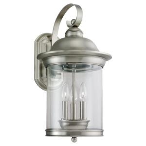 Sea Gull Lighting Hermitage 3-Light Outdoor Antique Brushed Nickel Wall Mount... by Sea Gull Lighting