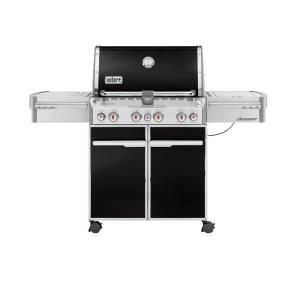 Weber Summit E-470 4-Burner Propane Gas Grill in Black with Built-In Thermometer and Rotisserie by