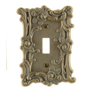 Amerelle Provincial 1 Toggle Wall Plate - Country Gold