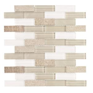Jeffrey Court Lamport 12 in. x 12 in. x 8 mm Stone Marble Mosaic Wall Tile