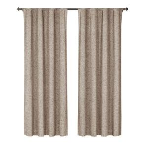 Window Elements Leila Printed Cotton Extra Wide 84 inch L Rod Pocket Curtain Panel Pair,... by
