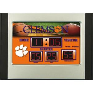 Clemson University 6.5 in. x 9 in. Scoreboard Alarm Clock with Temperature