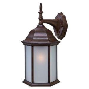 acclaim lighting craftsman 2 collection 1 light burled walnut outdoor