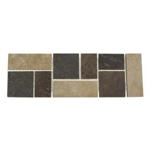 Daltile Continental Slate Multi-Colored 4 inch x 12 inch Porcelain Decorative Accent Floor... by