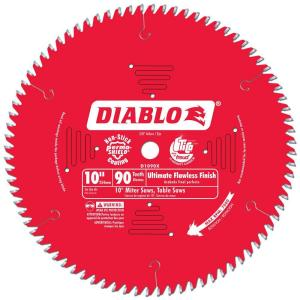 Diablo 10 in. x 90 Tooth Ultimate Flawless Finish Circular Saw Blade
