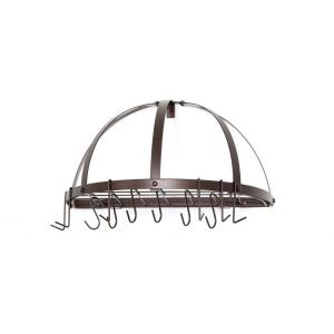 Old Dutch 22 inch x 11 inch x 12 inch Oiled Bronze Pot Rack by