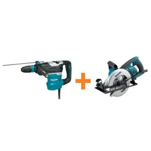 Makita 11 Amp 1-9/16 inch SDS-MAX AVT Rotary Hammer Drill with Free 15 Amp 7-1/4 inch Hypoid Saw by