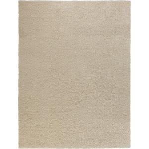Shag Cream 7 ft. 10 inch x 9 ft. 10 inch Area Rug by