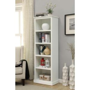 Home Decorators Collection Amelia White Open Bookcase Sk18488c The Home Depot