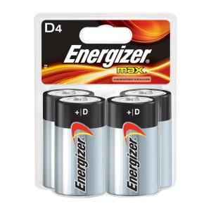 Energizer MAX Alkaline D Battery (4-Pack) by Energizer