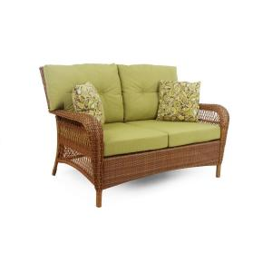 Martha Stewart Charlottetown Wicker Patio Chair Settee At Home Depot Chairs Seating Furniture