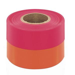 Bon Tool 1-3/16 inch x 150 ft. Fluorescent Pink Flagging Tape (12-pack)