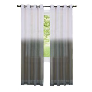 Achim Sheer Essence Charcoal Window Curtain Panel - 52 inch W x 63 inch L by