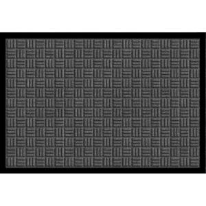 Apache Mills Gray 24 in. x 36 in. Synthetic Fiber Commercial Entry Mat