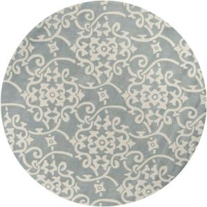 Artistic Weavers Meredith Silver Gray 8 ft. x 8 ft. Round Area Rug by