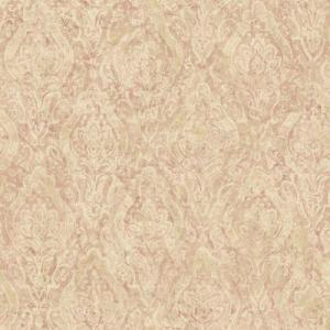 The Wallpaper Company 56 sq.ft. Pink Damask Wallpaper
