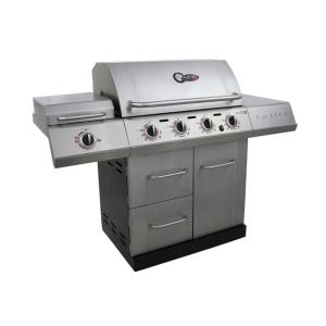 Char-Broil Gourmet 4-Burner TRU-Infrared Propane Gas Grill with Sideburner