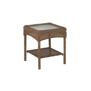 Martha Stewart Living Charlottetown 2012 Brown All-Weather Wicker Patio Accent Table