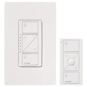 Lutron Caseta Wireless 600/150-Watt In-Wall Dimmer with Pico Remote Control Kit - White by