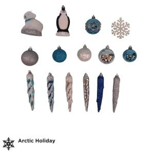 Martha Stewart Living Arctic Assorted Ornament Set (71-Set)