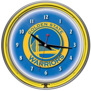 Trademark Global 14 inch Golden State Warriors NBA Chrome Double Ring Neon Wall... by Trademark Global