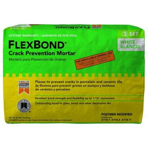 Custom Building Products FlexBond White 50 lb. Crack Prevention Mortar by Custom Building Products