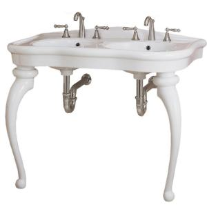St. Thomas Creations Parisian Queen Anne Console Legs in White-DISCONTINUED