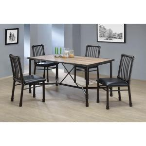 Acme Furniture Caitlin Rustic Oak Water Resistant Dining Table by