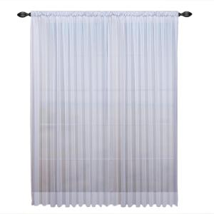 Click here to buy  Sheer Tergaline Rod Pocket Sheer Curtain Panel 108 inch W x 96 inch L White.