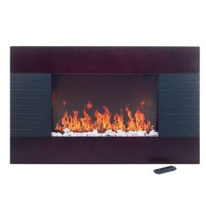 Ever Glow Mahogany Electric Fireplace