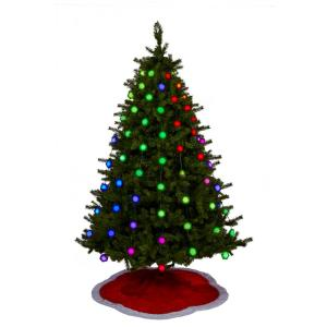 GeekMyTree GlowFlakes Eight 65 inch Strands with 64 Multicolored LEDs Light Show...