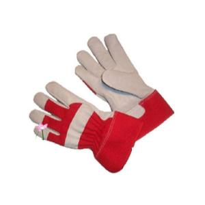 G & F Top-Grain Goatskin Women's Garden Gloves with Rubberized Safety Cuff (1-Pair)