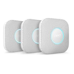 Nest Protect Wired Smoke and Carbon Monoxide Alarm (3-Pack) by Nest