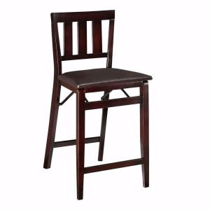 Home Decorators Collection Brown Mission-Style Foldable Counter Stool-DISCONTINUED