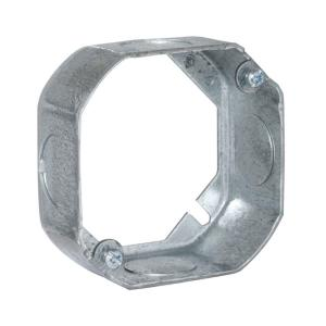 RACO 4 inch Octagon Extension Ring, 1-1/2 inch Deep with 3/4 inch KO