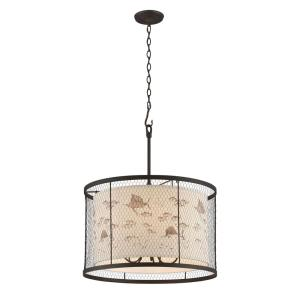 Troy Lighting Catch N Release 5-Light Angler Bronze Pendant by Troy Lighting