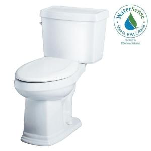Gerber Allerton 2-Piece High Efficiency Elongated ErgoHeight Toilet in White by