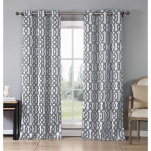 Duck River Blackout Ashmont 84 inch L Blackout Grommet Panel in Grey (2-Pack) by Duck River