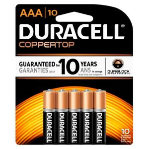 Duracell Coppertop Alkaline AAA Battery (10-Pack) by Duracell