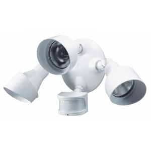 LED Motion Sensor Flood Spot Light Super Bright 36W 3-Heads Outdoor Security BLK