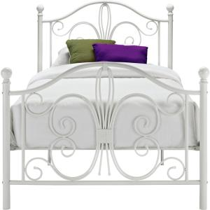 White Twin Bed Frames dhp bombay white twin bed frame-3246098 - the home depot