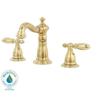 Delta Victorian 8 In Widespread 2 Handle High Arc Bathroom Faucet In Polishe