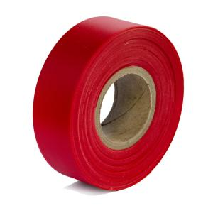 Bon Tool 1-3/16 inch x 300 ft. Red Flagging Tape (12-pack)