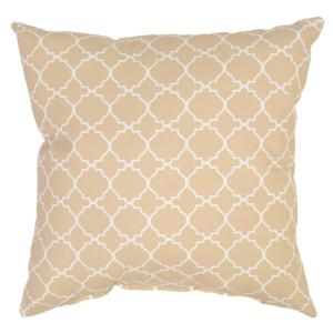 Sand Geo Square Outdoor Throw Pillow