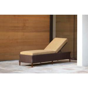 Brown jordan marquis patio chaise lounge in toffee for Brown and jordan chaise
